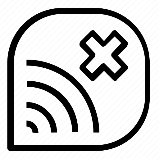 cancel, disconnect, wifi icon