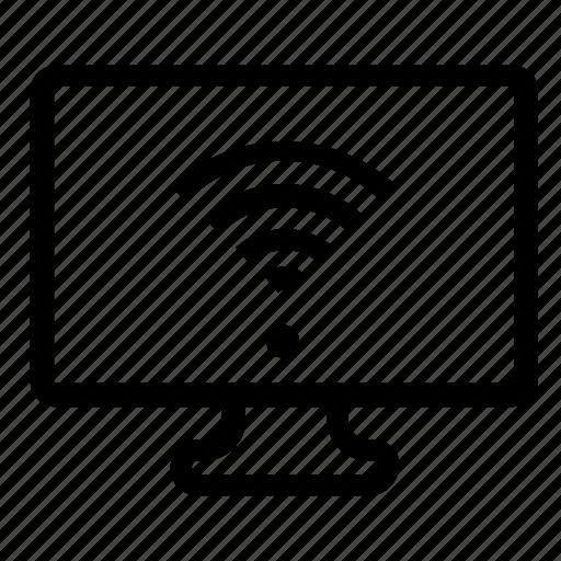 computer, wifi icon