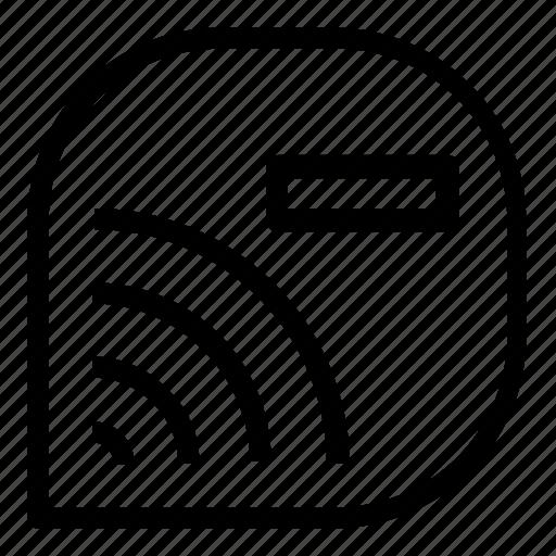 delete, wifi icon