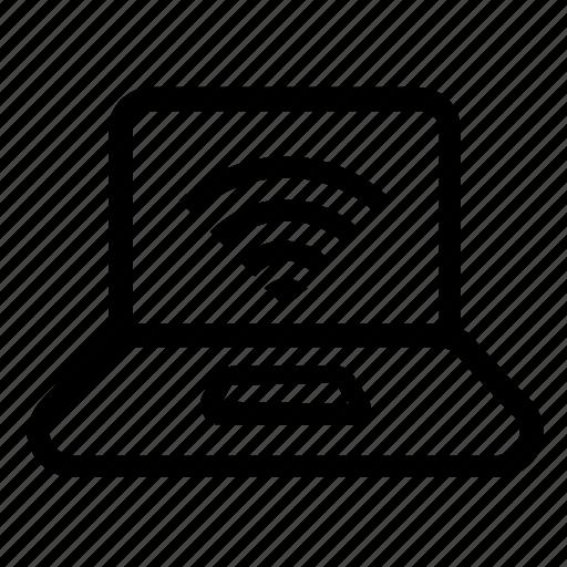 laptop, network, wifi icon