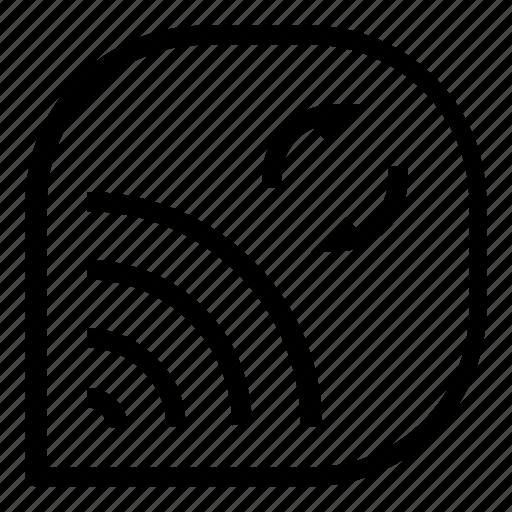 network, refresh, reload, wifi icon
