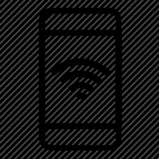 network, smartphone, wifi icon