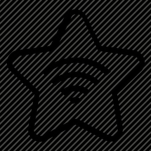 bookmark, wifi icon