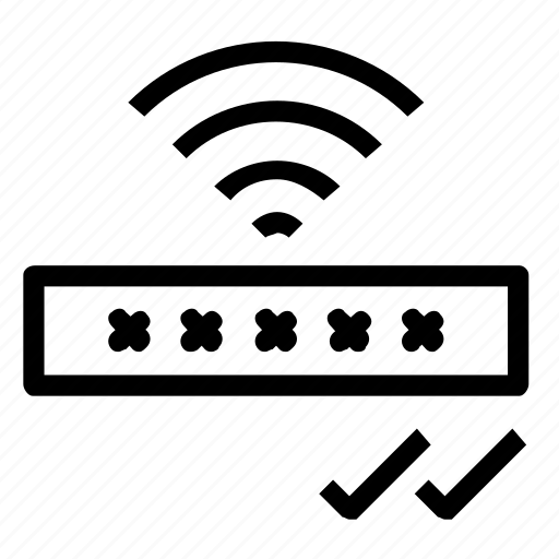 confirm, password, wifi icon
