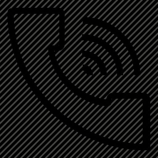 call, communication, phone, wifi icon