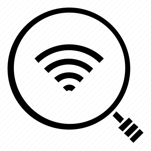 find, search, wifi icon