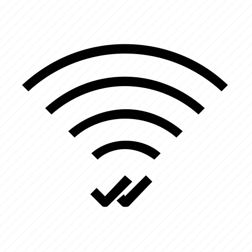 confirm, connection, wifi icon