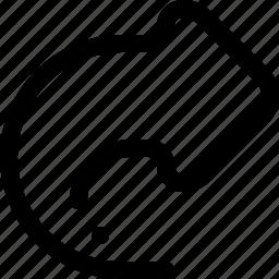 arrow, do, forward, redo, reply, right icon
