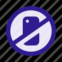devices, forbidden, mobile, no phones, prohibited, prohibition, smartphone icon