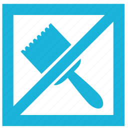 brush, building, cancel, interior, paint, repair, wall icon