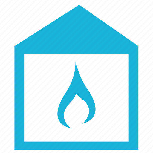 building, fire, house, safety, sign icon