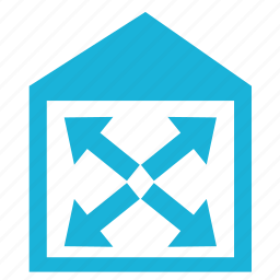 building, construction, house, space, wide icon