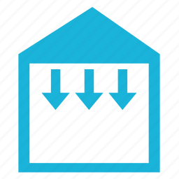 arrows, building, construction, house, roof, severity, weight icon