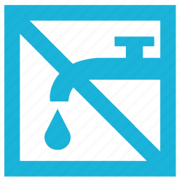 cancel, drop, supply, tap, water icon