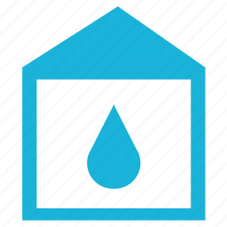 home, house, humidity, water icon