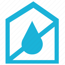 cancel, home, house, humidity, water icon
