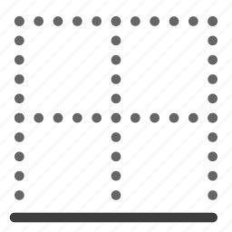 align, alignment, bottom, to icon