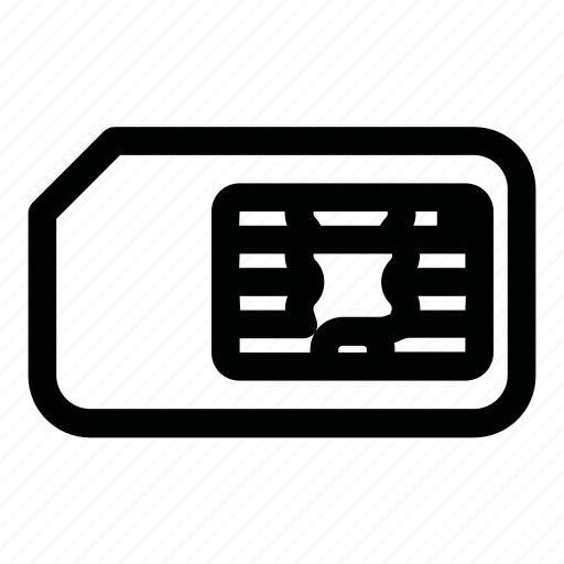 card, gsm, sim, sim-card, smart card, subscriber identification module icon