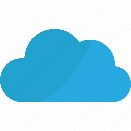 blue, cloud, creative, download, online, sky icon