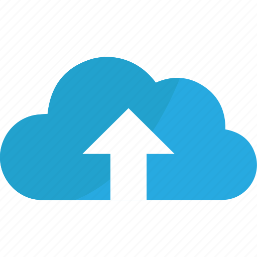 arrow, arrows, blue, cloud, creative, document, file, top, up, upload icon