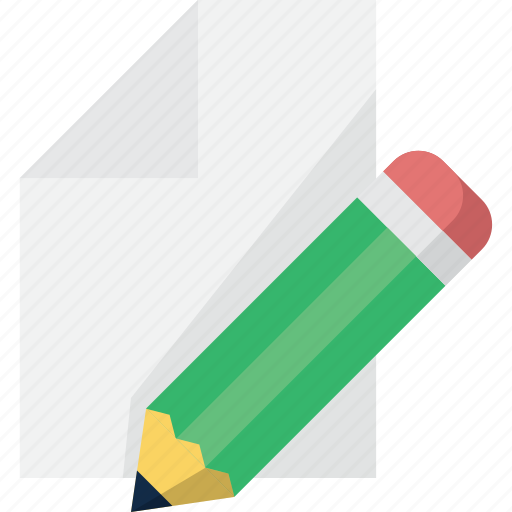 document, edit, file, paper, pen, write icon