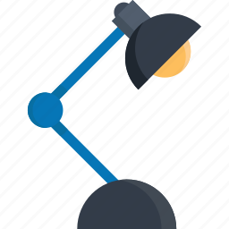 bulb, desk, lamp, light, office, overtime, work icon