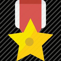 achievement, approved, award, best, excellent, medal, prize, reward, star, success, trophy, winner icon