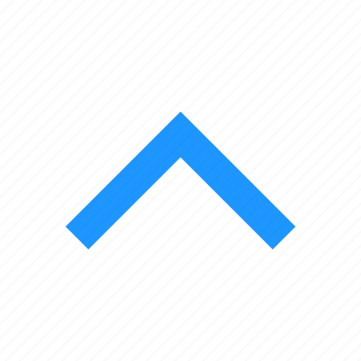 Navigate, arrow up, north, pointy block arrow icon