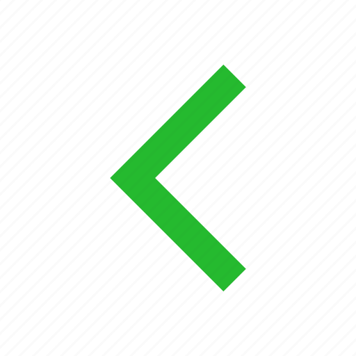 arrow left, east, navigate, pointer icon