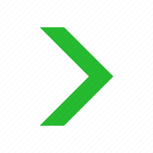 Navigate, next, arrow right, west icon