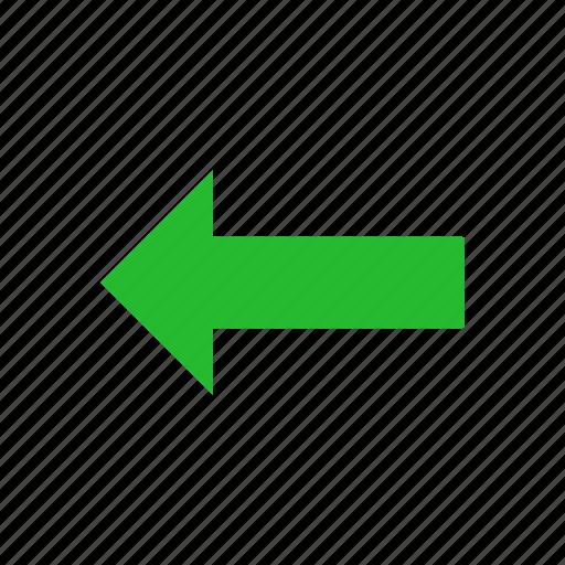 Navigate, east, arrow left, pointer icon