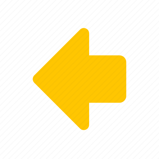 arrow left, east, navigate, pointer icon