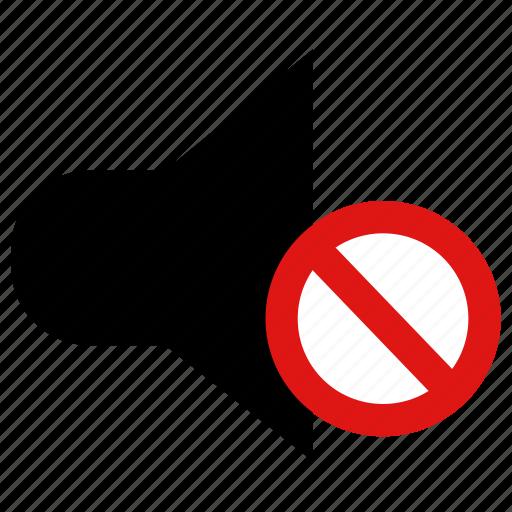mute, no sound, off, silent, sound off, volume icon
