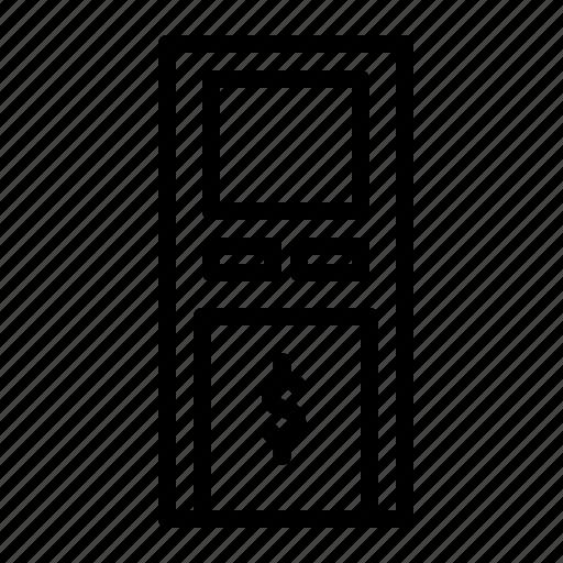 atm, building, money, withdraw icon
