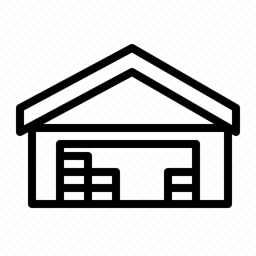 building, house, storehouse, warehouse icon