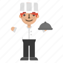 character, chef, cook, dinner, kitchen, restaurant icon