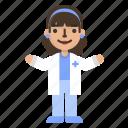 avatar, character, doctor, female, hospital, medicine, nurse