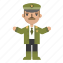 army, avatar, character, general, police, policeman, security icon