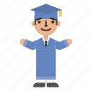 avatar, character, education, graduate, graduation, student, university