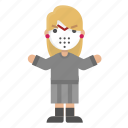 character, female, friday, halloween, jason, killer, scary icon