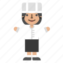 avatar, character, chef, cook, female, kitchener icon