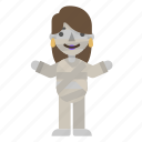 avatar, character, female, halloween, horror, mummy, scary