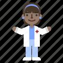 character, doctor, female, girl, hospital, nurse, profile