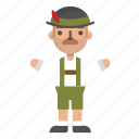 avatar, character, man, oktoberfest, people icon