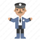 avatar, character, man, people, police, policeman, security icon
