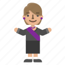 avatar, character, emoji, female, people, politician, president