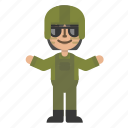 army, avatar, character, female, man, people, soldier