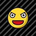 emojis, emoticon, emotion, evil, smile, smiley, villian