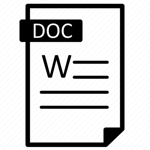 doc, document, extension, file, format, line, paper icon
