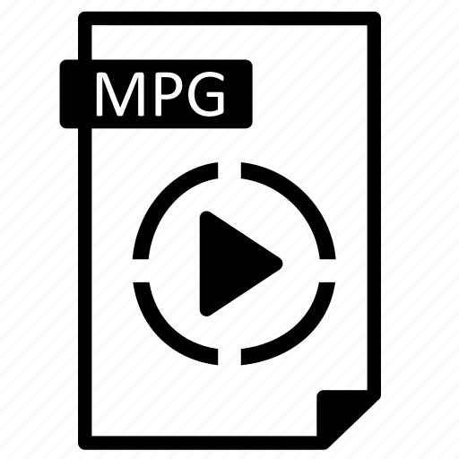 document, extension, file, format, line, mpg, paper icon